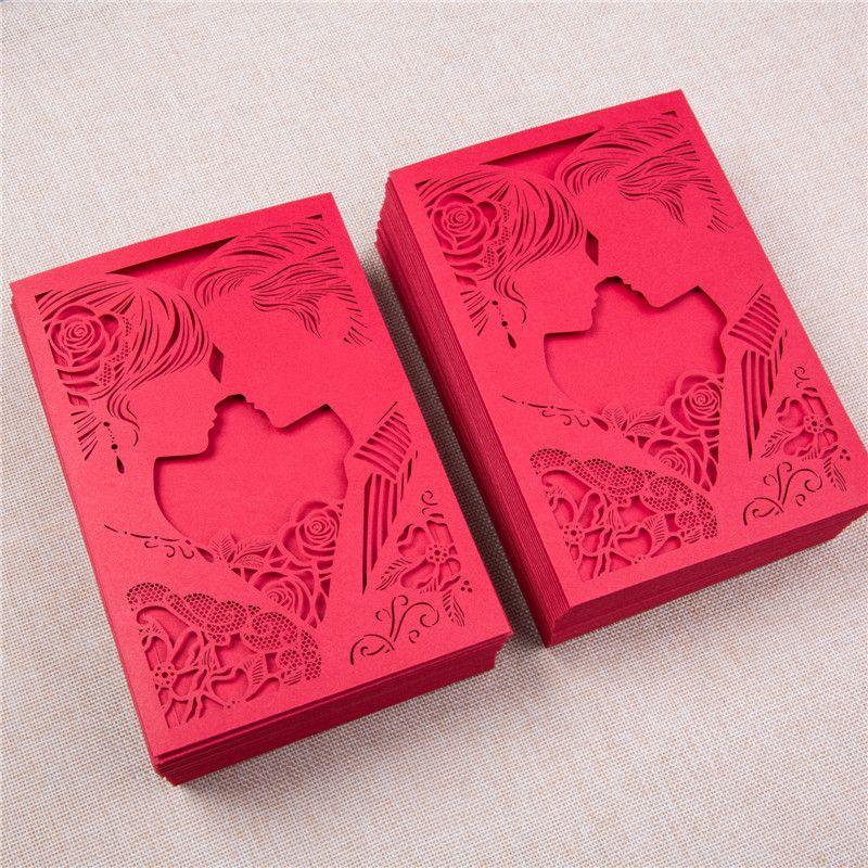 Pochette faire,part mariage romantique rouge , personnalisez la couleur de  votre\u2026