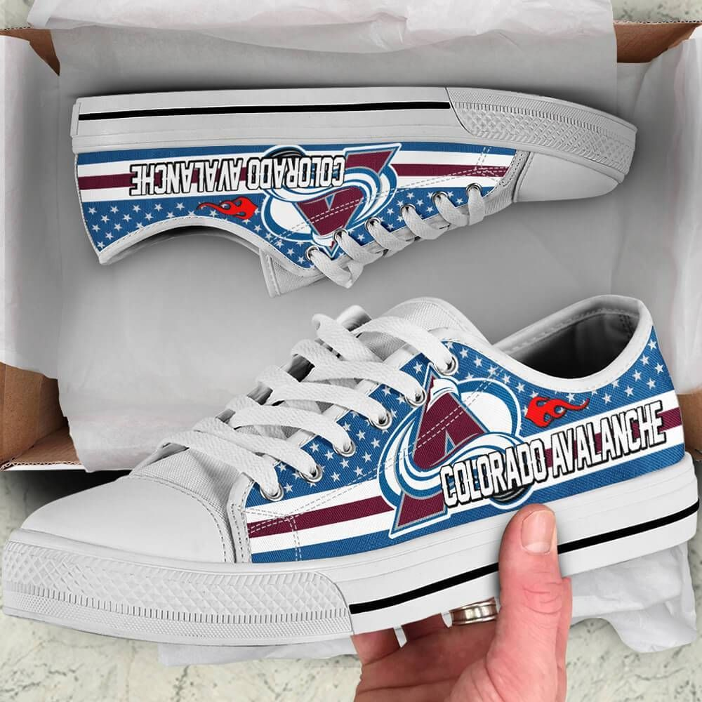 Colorado Avalanche Legend Since 1972 NHL Hockey Teams Blue Low Top Shoes - NFL T-Shirts Store     S