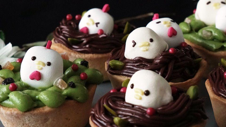Marshmallow Chicks in Nests #flavoredmarshmallows