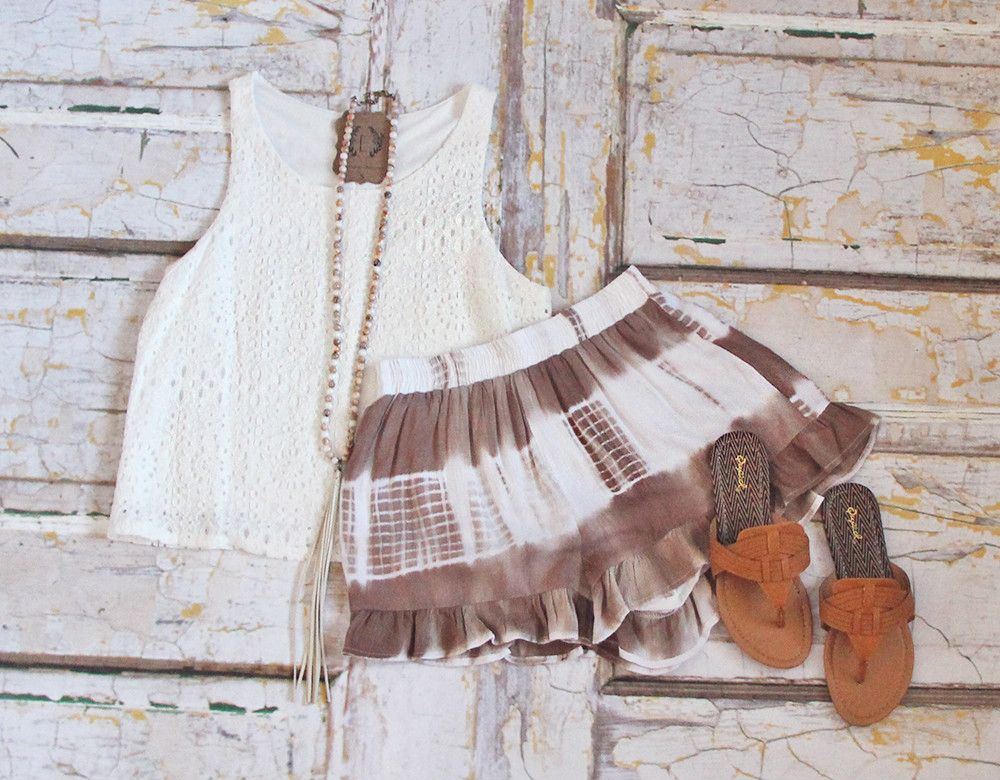 Girl, you NEED these tie-dye ruffled shorts! Neutral but still super fun, these will definitely be your new go-to!