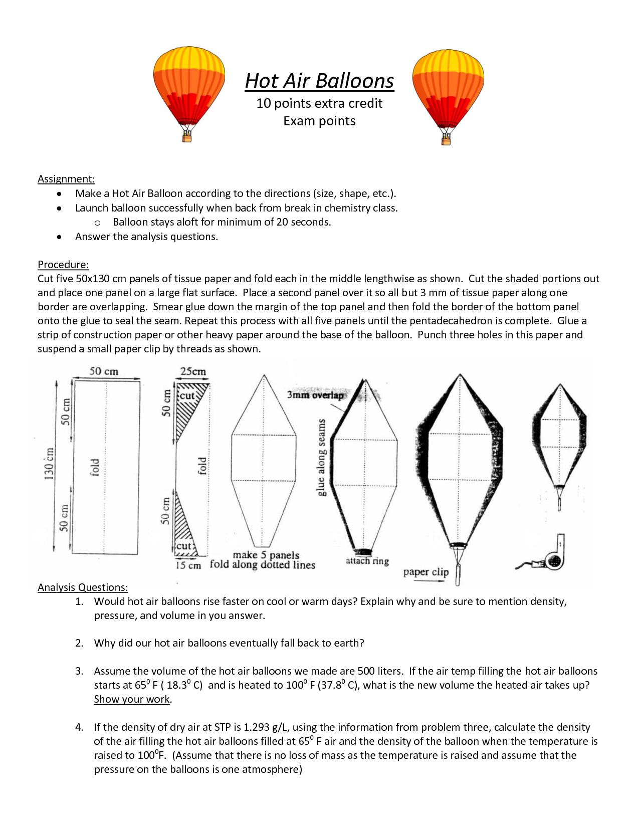 tissue paper hot air balloon template