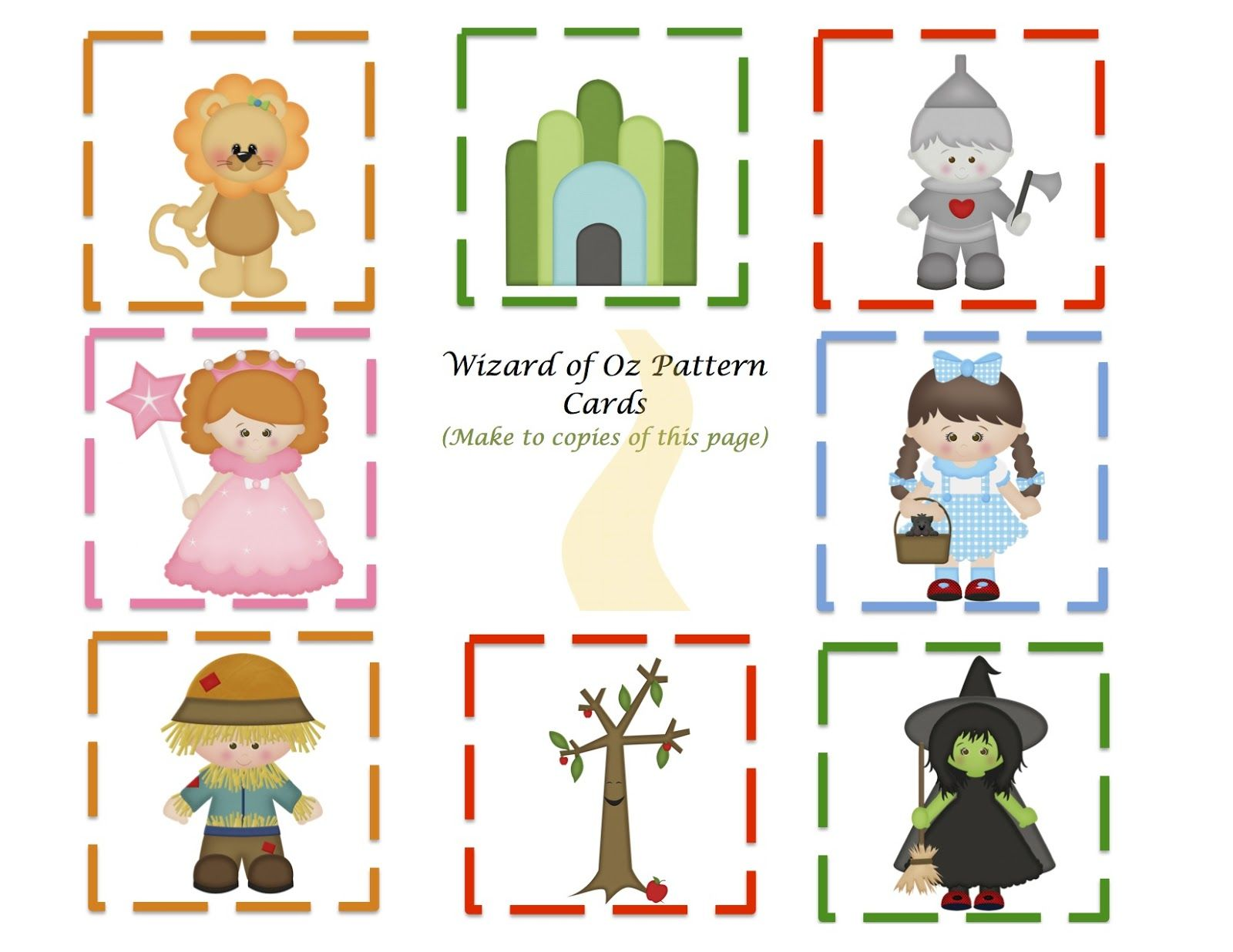 Preschool Printables Wizard Of Oz Mini Printable