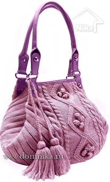 4fefae4d2b1c Сумки своими руками. вязание спицами | Knitted bags/shoes | Knitted ...
