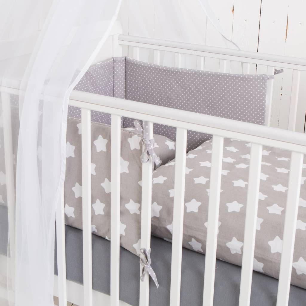 Bett Set Finja Grau 135x100 Cm Bett Bettwasche Und Babybetten