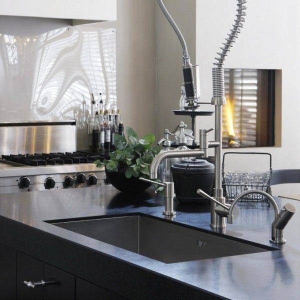 Schwarz, weiß und Modern-Wasserhahn küche | Interieur Design ...