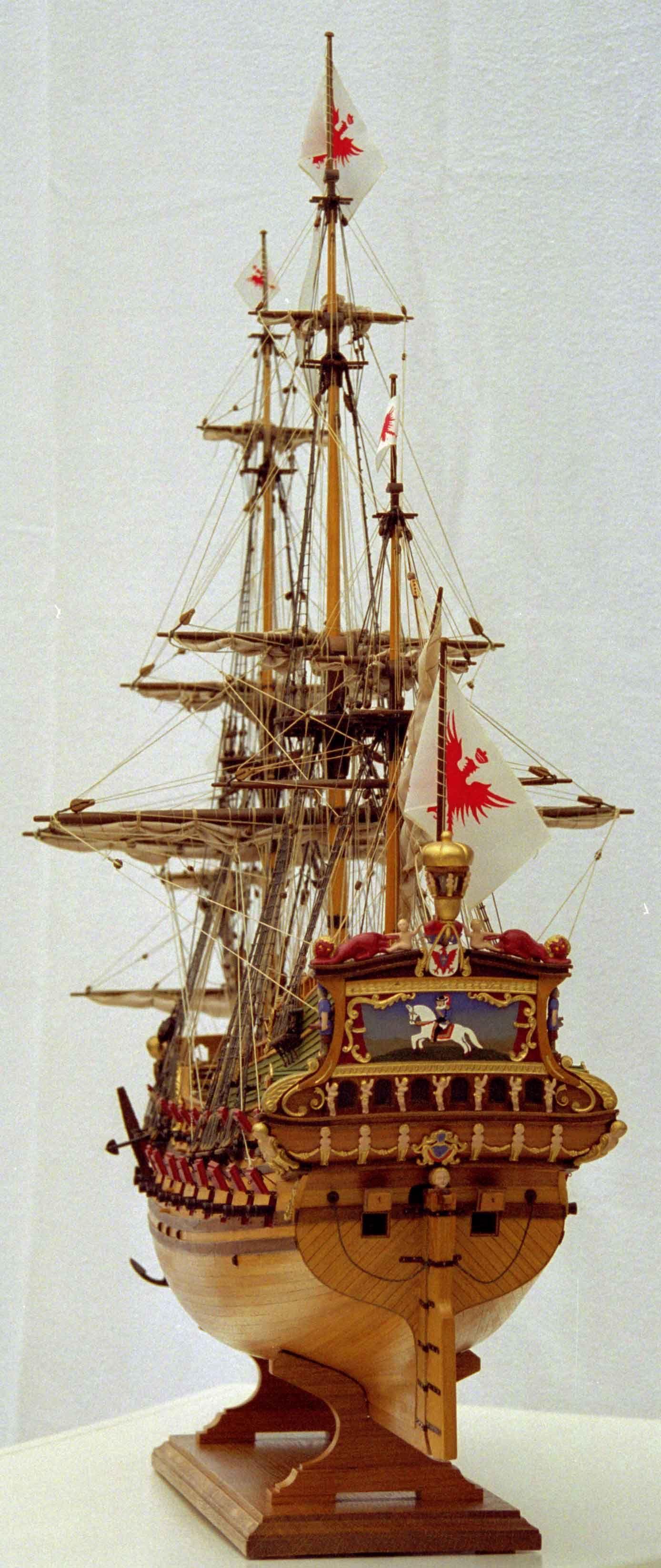 Schiffsmodell Friedrich Wilhelm Zu Pferde Hist