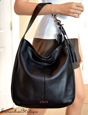 8dd99c5fc874 NWT COACH Avery Black Soft Leather Large Hobo Bag F23309. NWT COACH Avery  Black Soft Leather Large Hobo Bag F23309 Leather Handbags