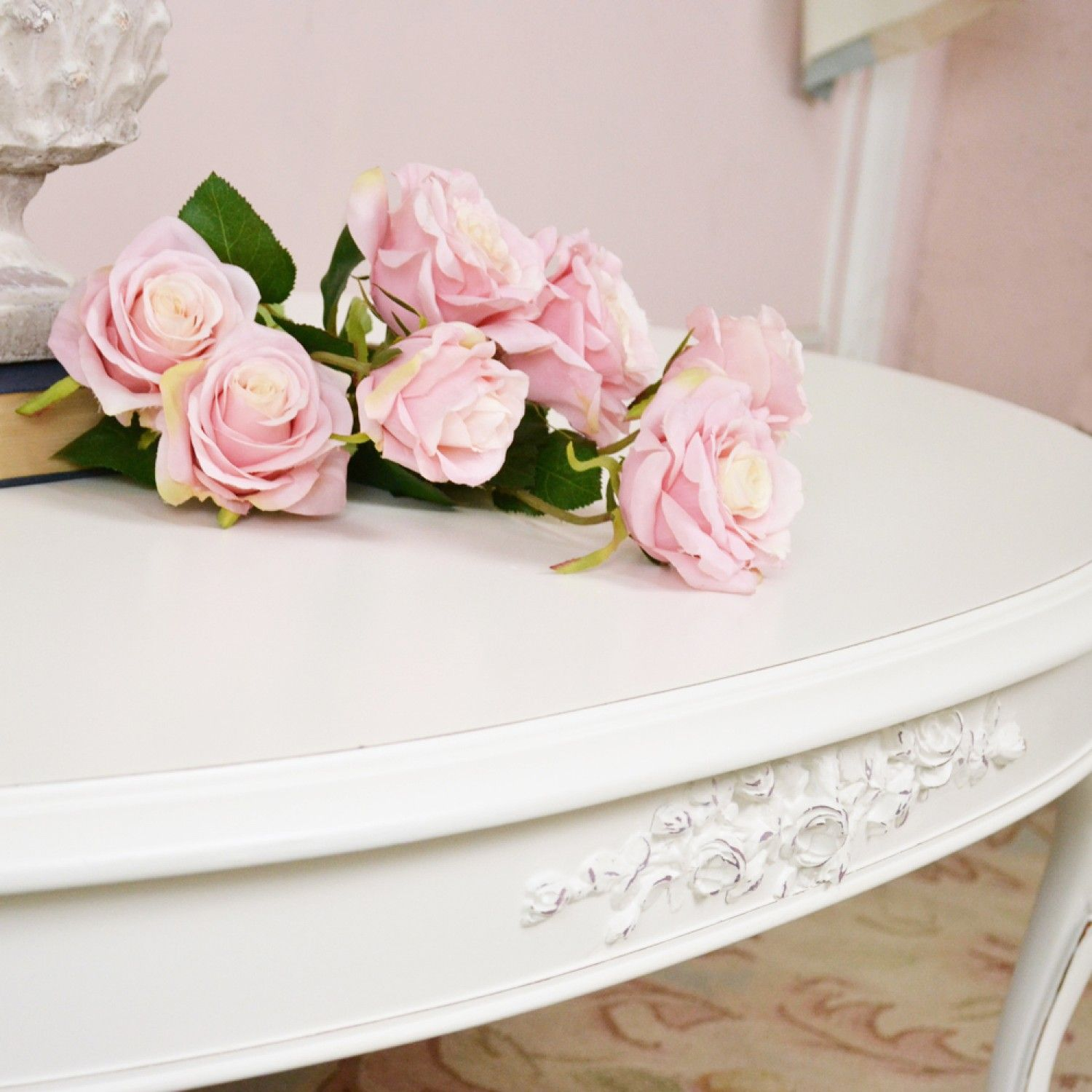 Rose Oval Coffee Table Oval Coffee Tables Shabby Chic Cottage Romantic Shabby Chic