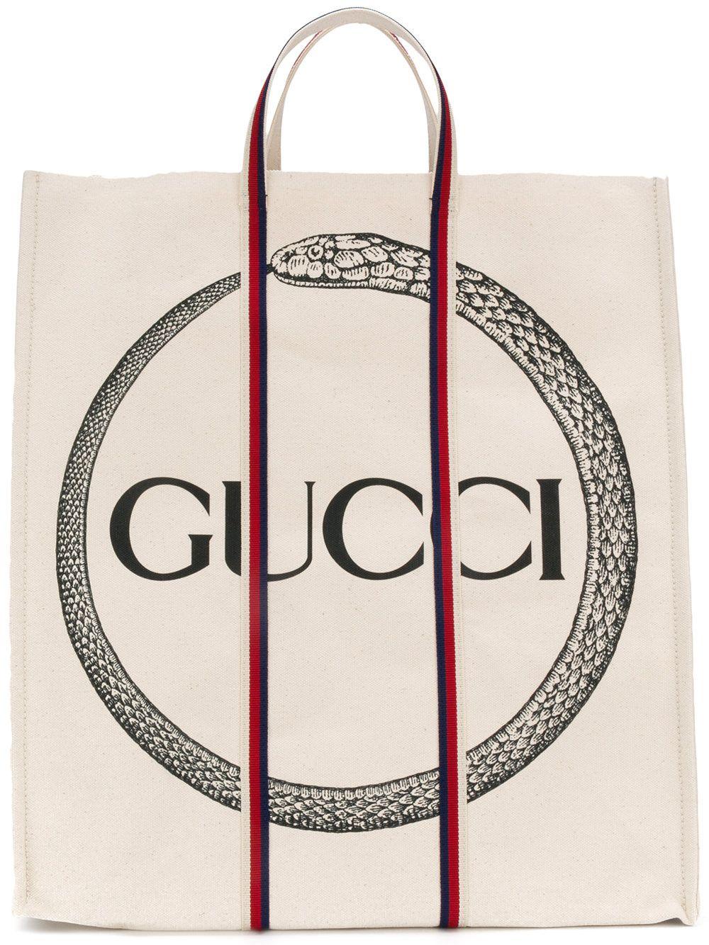 99cdb8752ee4 Gucci ouroboros print tote   Ink   Gucci tote bag, Cotton tote bags ...