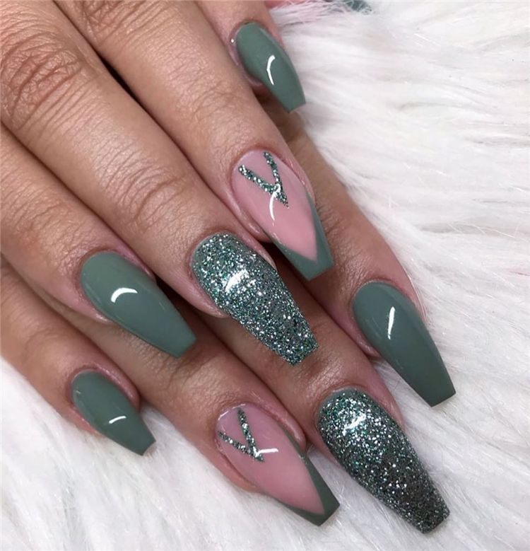 55 Trendy And Hottest Coffin Nail Designs You Desire For In 2020 Page 31 Of 55 Women Fashion Lifestyle Blog Shinecoco Com In 2020 Coffin Nails Designs Cute Nails For Fall Nail Designs