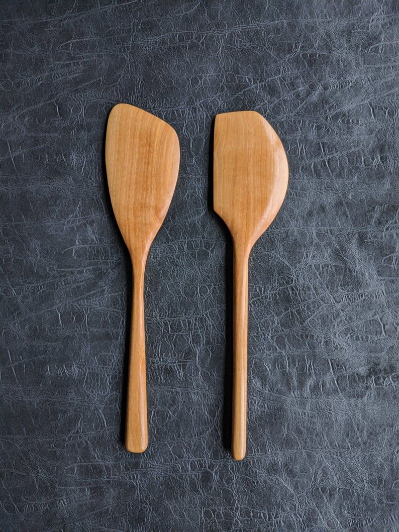 Hand Carved Olive Wood Spatula Set Gift Set Cooking Etsy In 2020 Olive Wood Wooden Kitchen Utensils Spatula Set