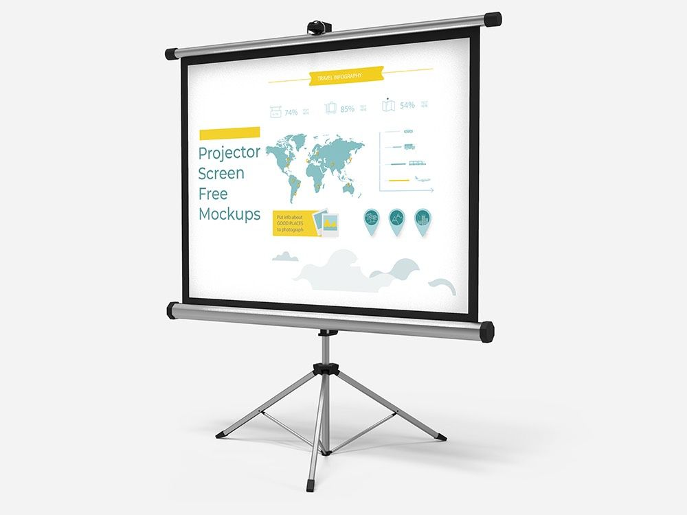 Free Download Projector Screen Mockups Projector Screen Presentation Slides Design Mockup