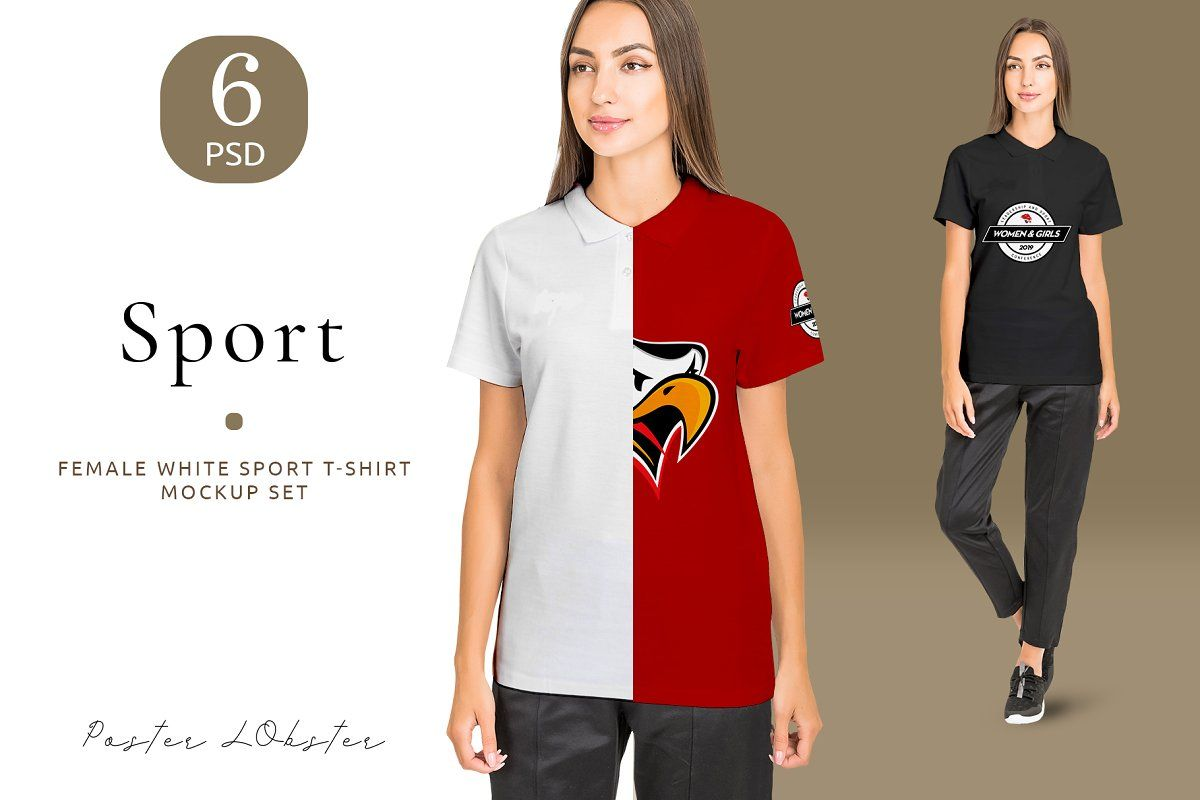 Download Women Sport T Shirt Mockup Set Shirt Mockup Sport T Shirt Tshirt Mockup