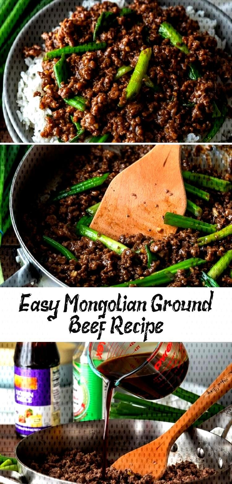 YUM! This super easy Mongolian Ground Beef Recipe is just like classic Mongolian Beef, except uses