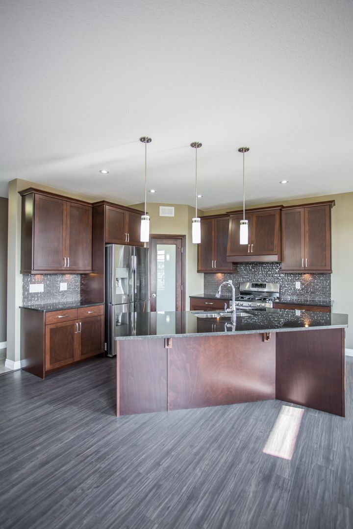 Beautiful Corner Kitchen With L Shaped Island And Corner Pantry