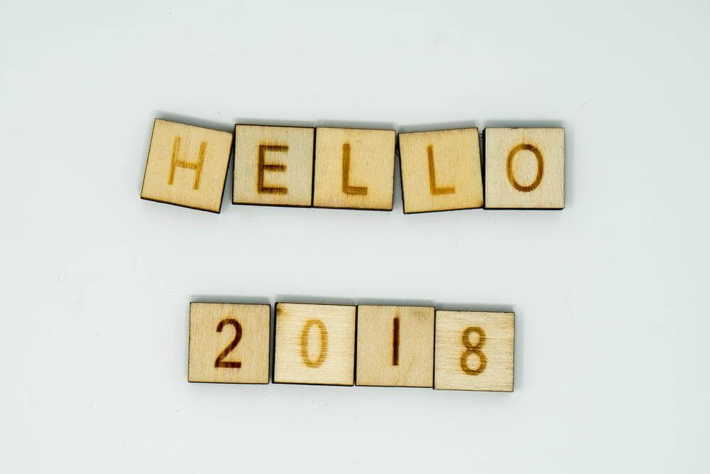 Beau Cute Hello And Welcome 2018 New Year Greeting Wooden Image Hd