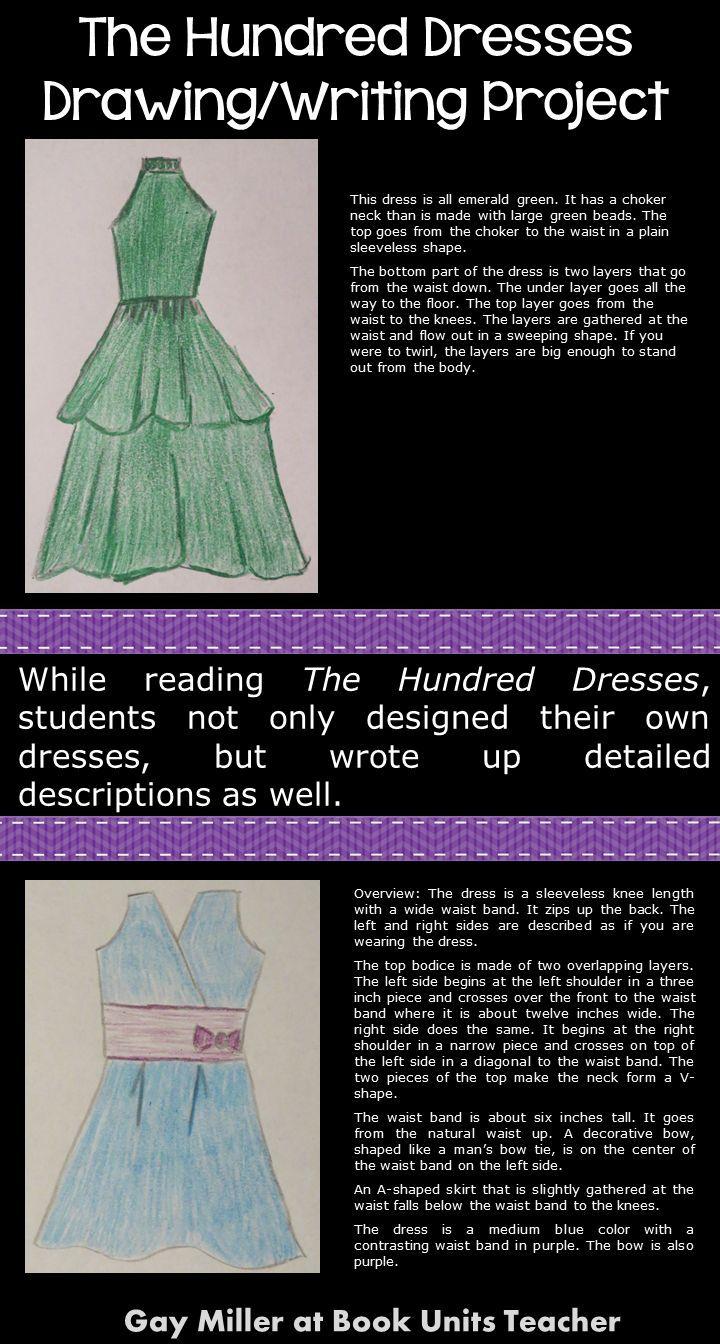 worksheet The Hundred Dresses Worksheets dress design writing project for the hundred dresses creative dresses