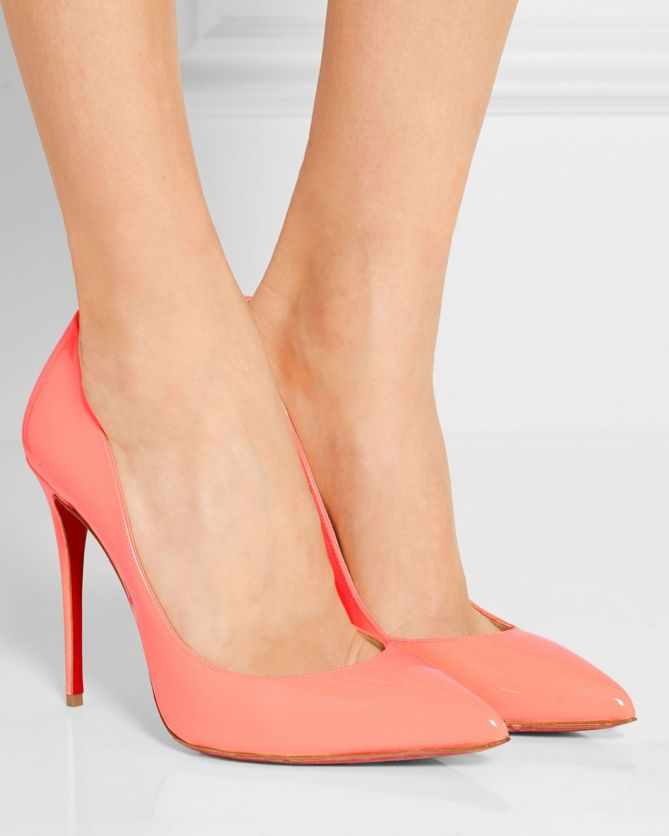 fb060295366 CHRISTIAN LOUBOUTIN Pigalle Follies 100 patent-leather pumps | shoe ...