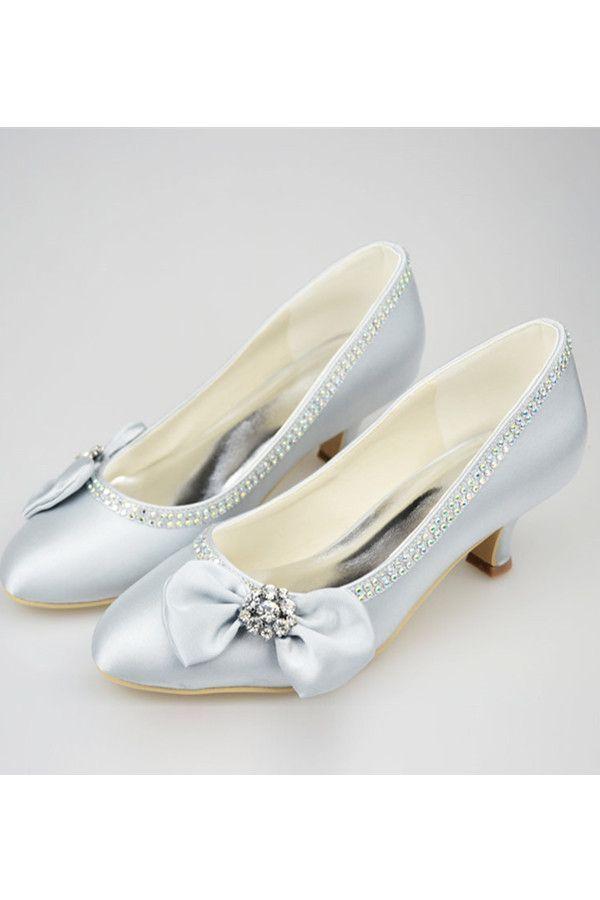 b4fd3db1597 Silver Low Heel Beading Handmade Simple High Quality Prom Shoes S122 ...