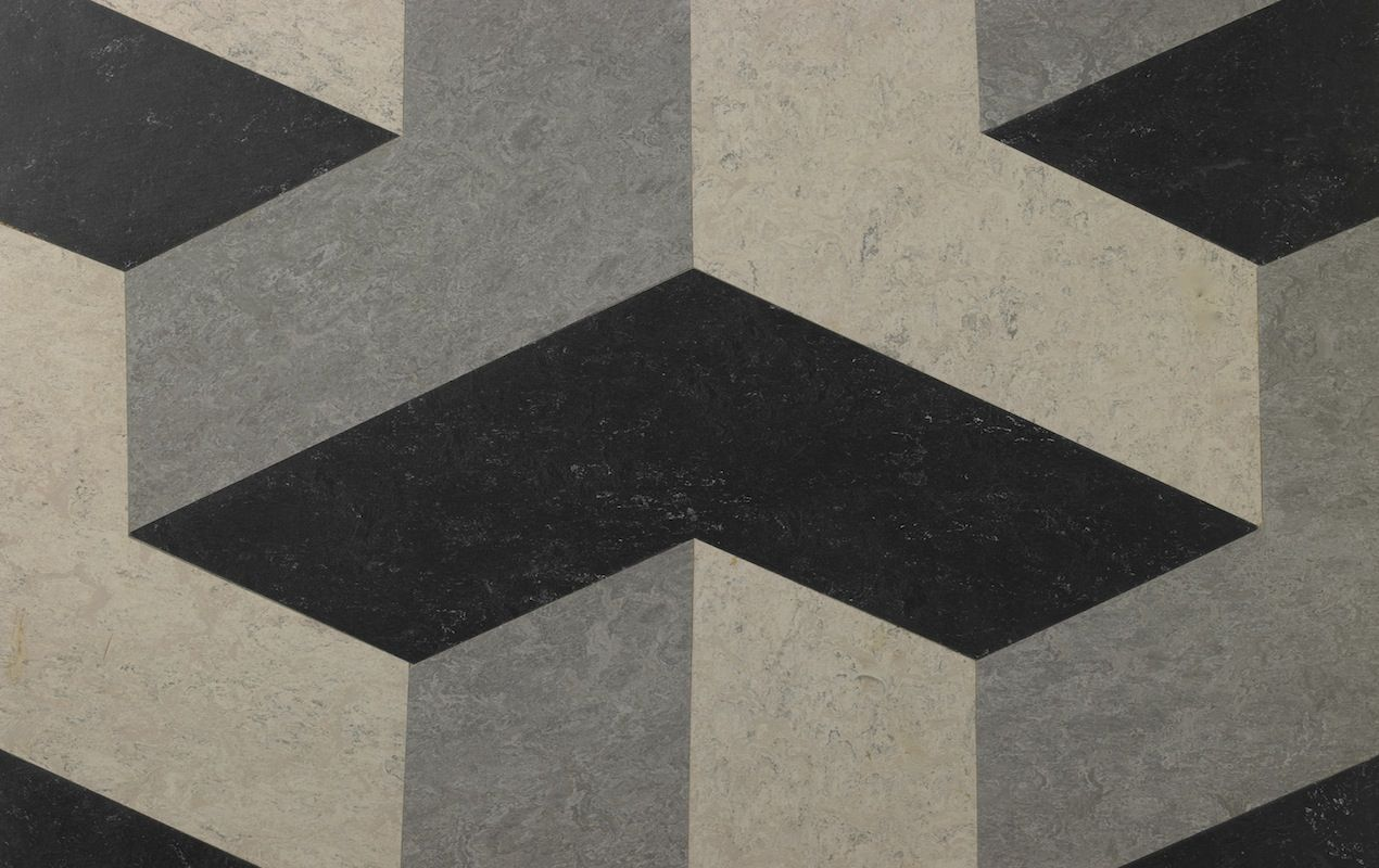 A Cube Design Similar To Our Box Tile Pattern Any Colour Combination Is Possible Material Linoleum