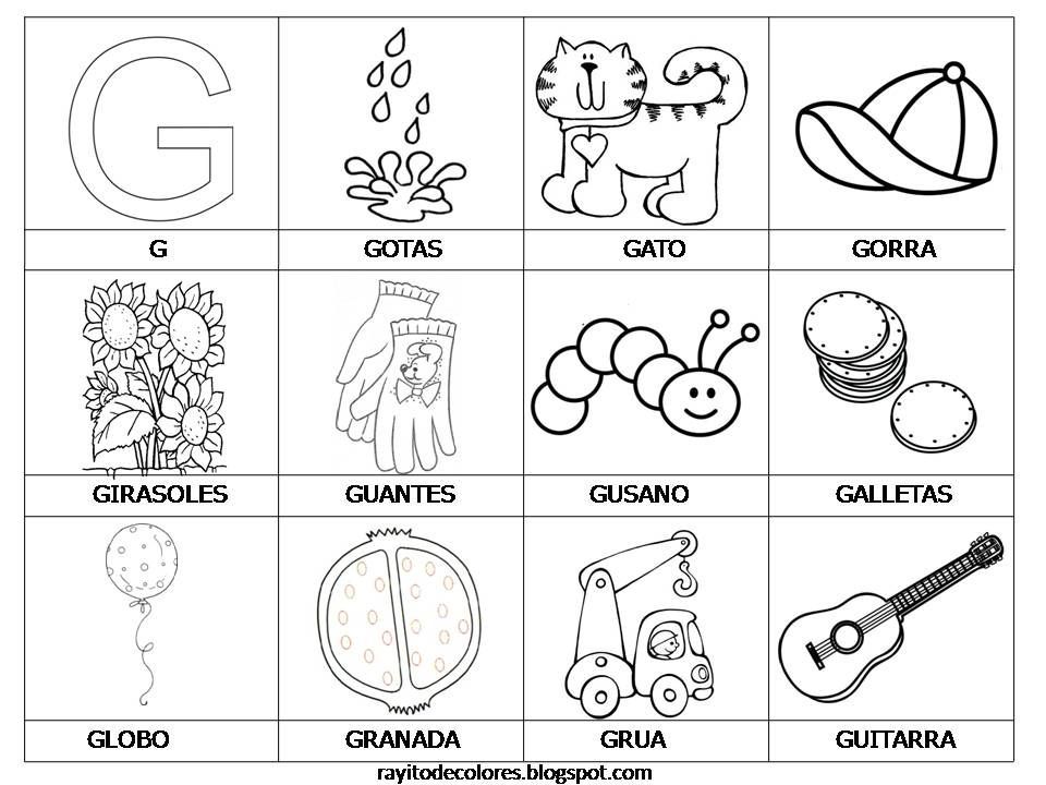 letra g | Letras y dibujos | Pinterest