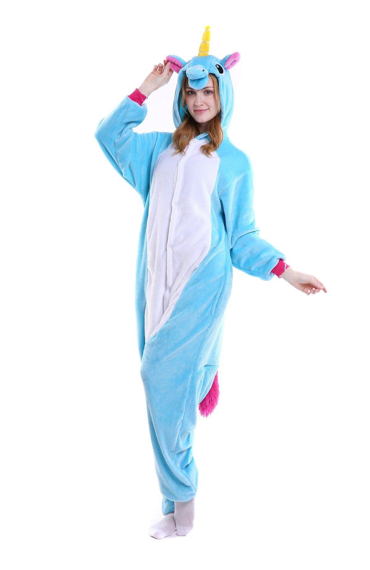 kigurumi blue Pegasus onesies animal pajamas for adults  fc69881a9