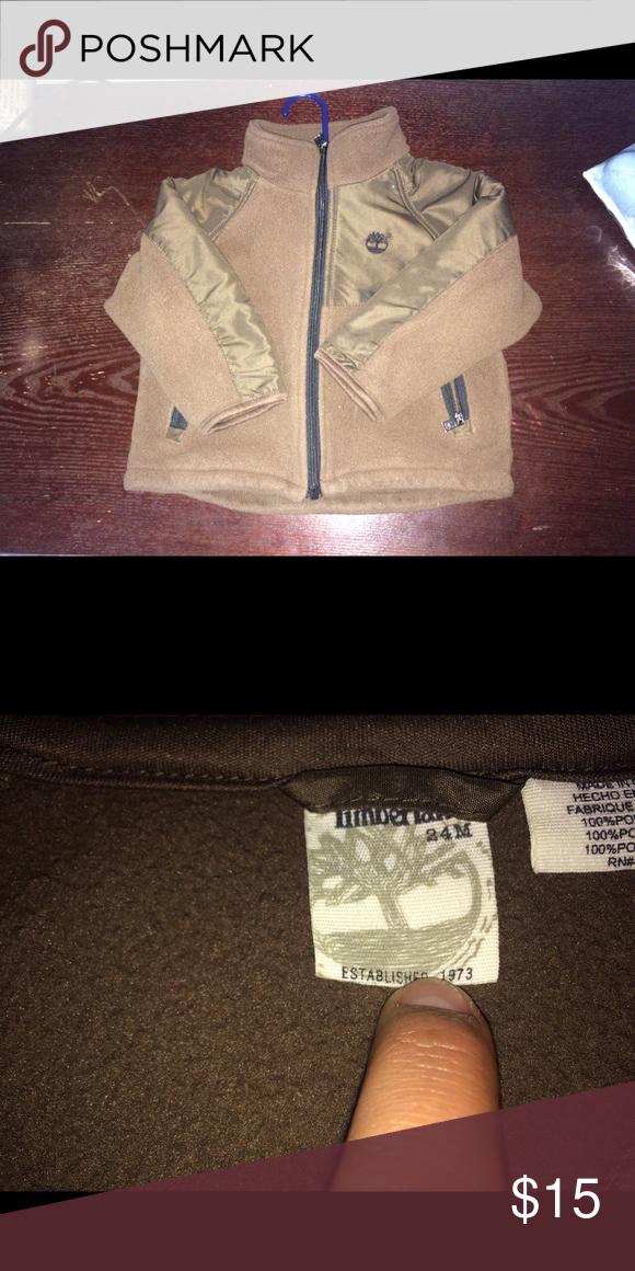 Boy's/Toddler's Brown Timberland Jacket 24m boy's brown zip up Timberland jacket in 24m Timberland Jackets & Coats