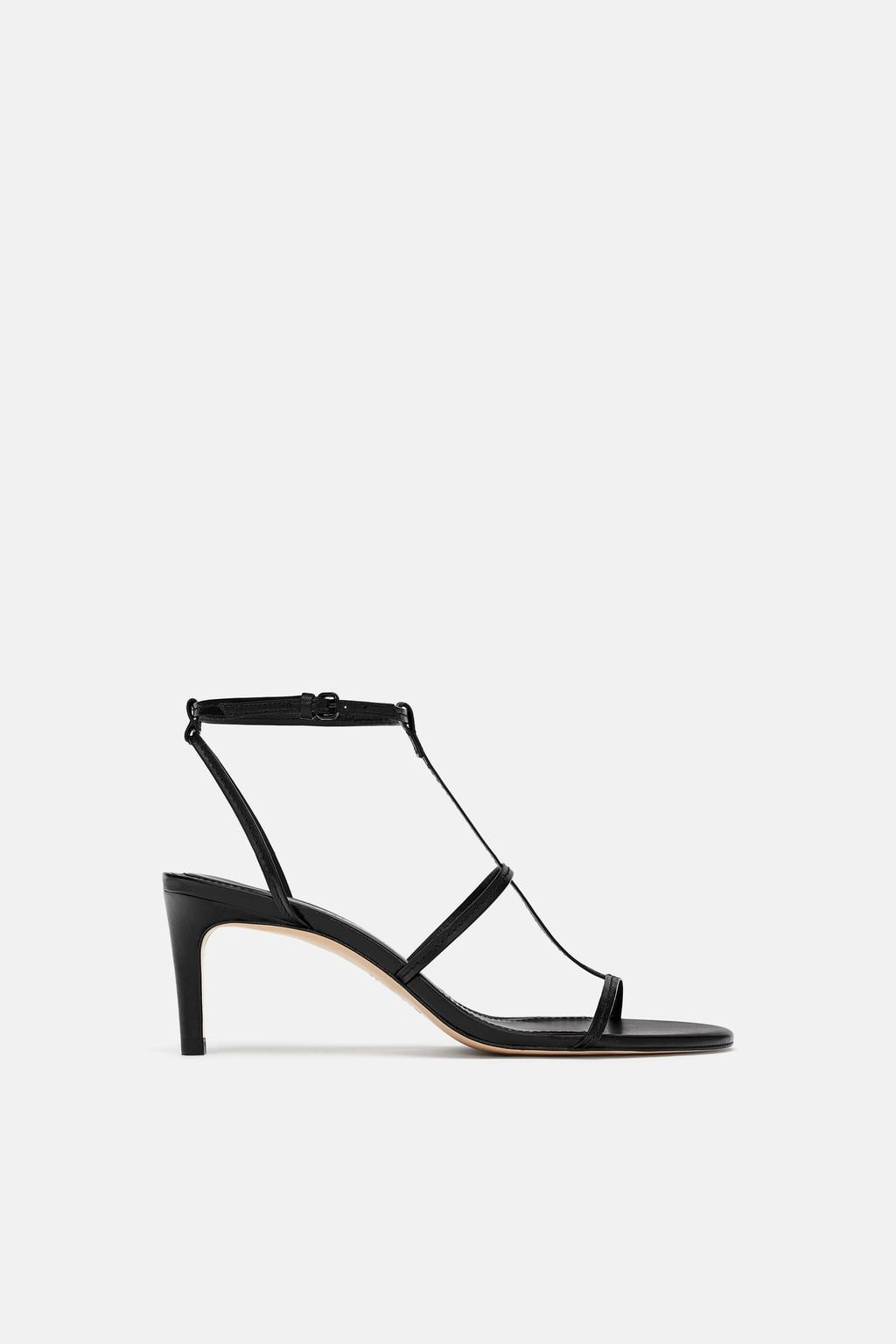 047be0646f5 Image 2 of LEATHER HIGH HEELED STRAPPY SANDALS from Zara