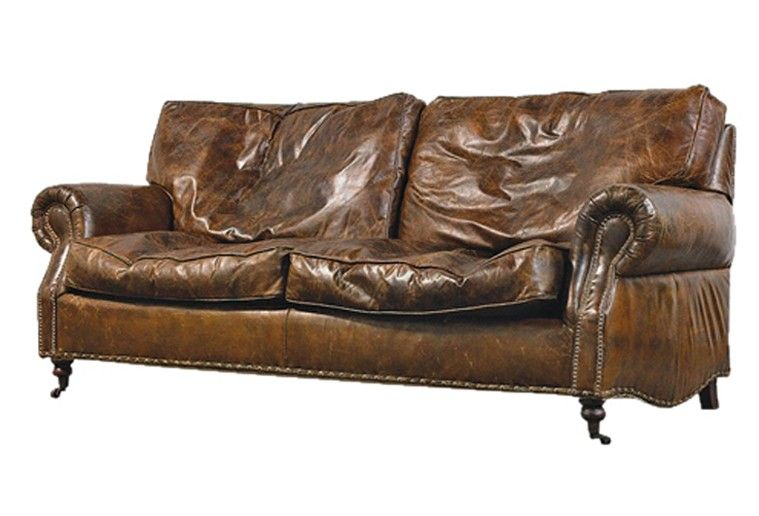 Coach House Vintage Leather Sofa Is Fabulous Real Leather With A