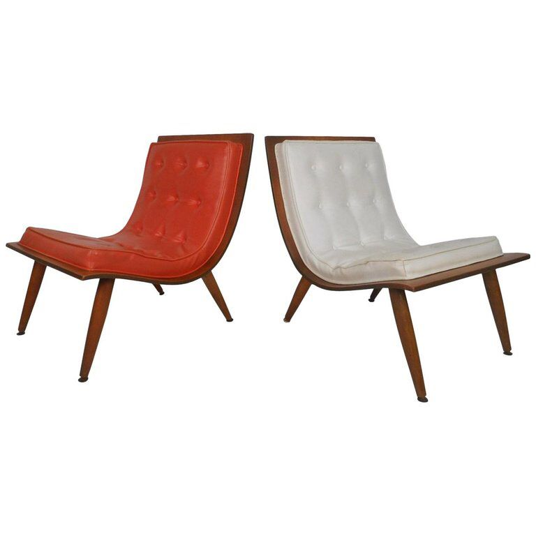 Midcentury Bentwood Scoop Chairs By Carter Brothers Mid