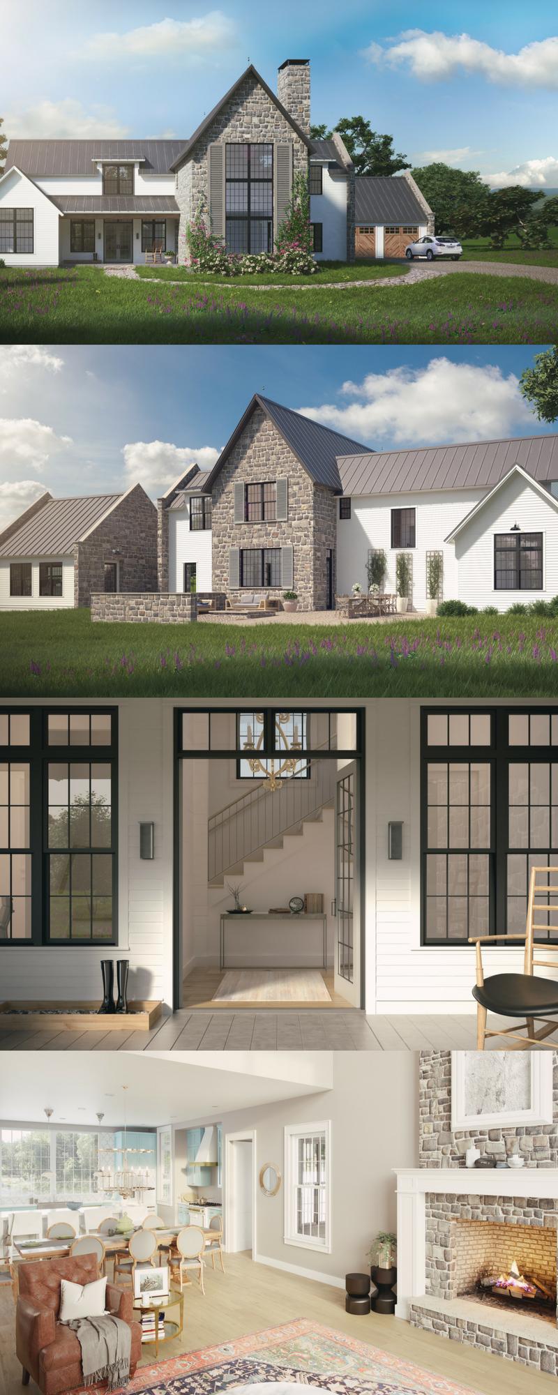 Aubrac Farmhouse Style House House Designs Exterior House Plans Farmhouse