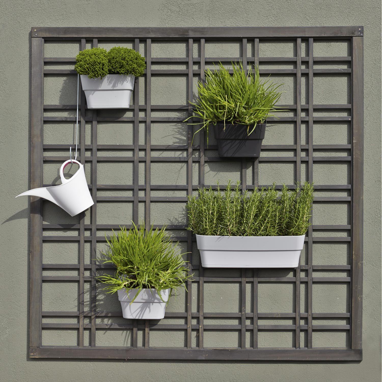 panneau treillis bois ajour selva cm x cm gris leroy merlin le long du mur. Black Bedroom Furniture Sets. Home Design Ideas