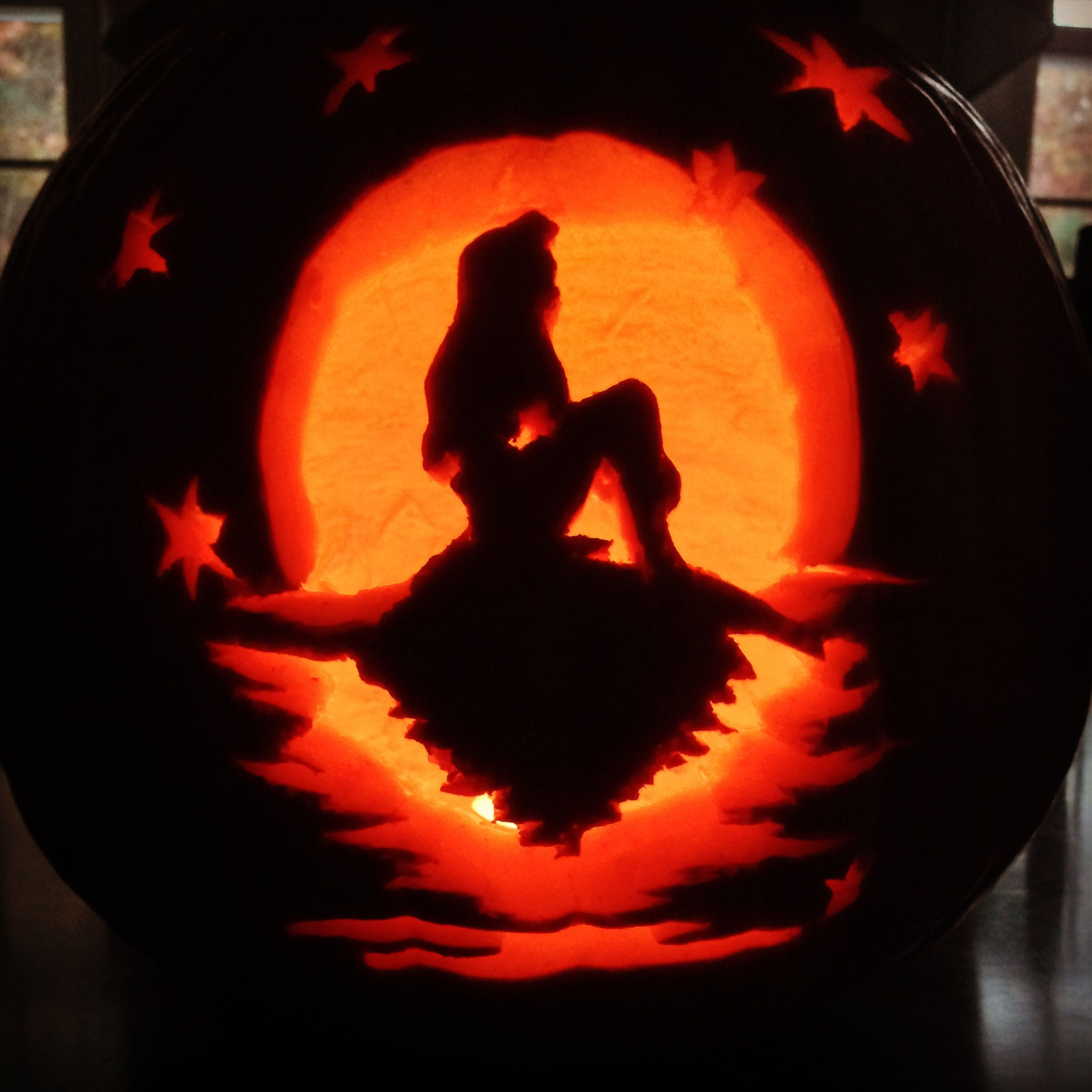 Little Mermaid Inspired Pumpkin Carving Happy Halloween Diy