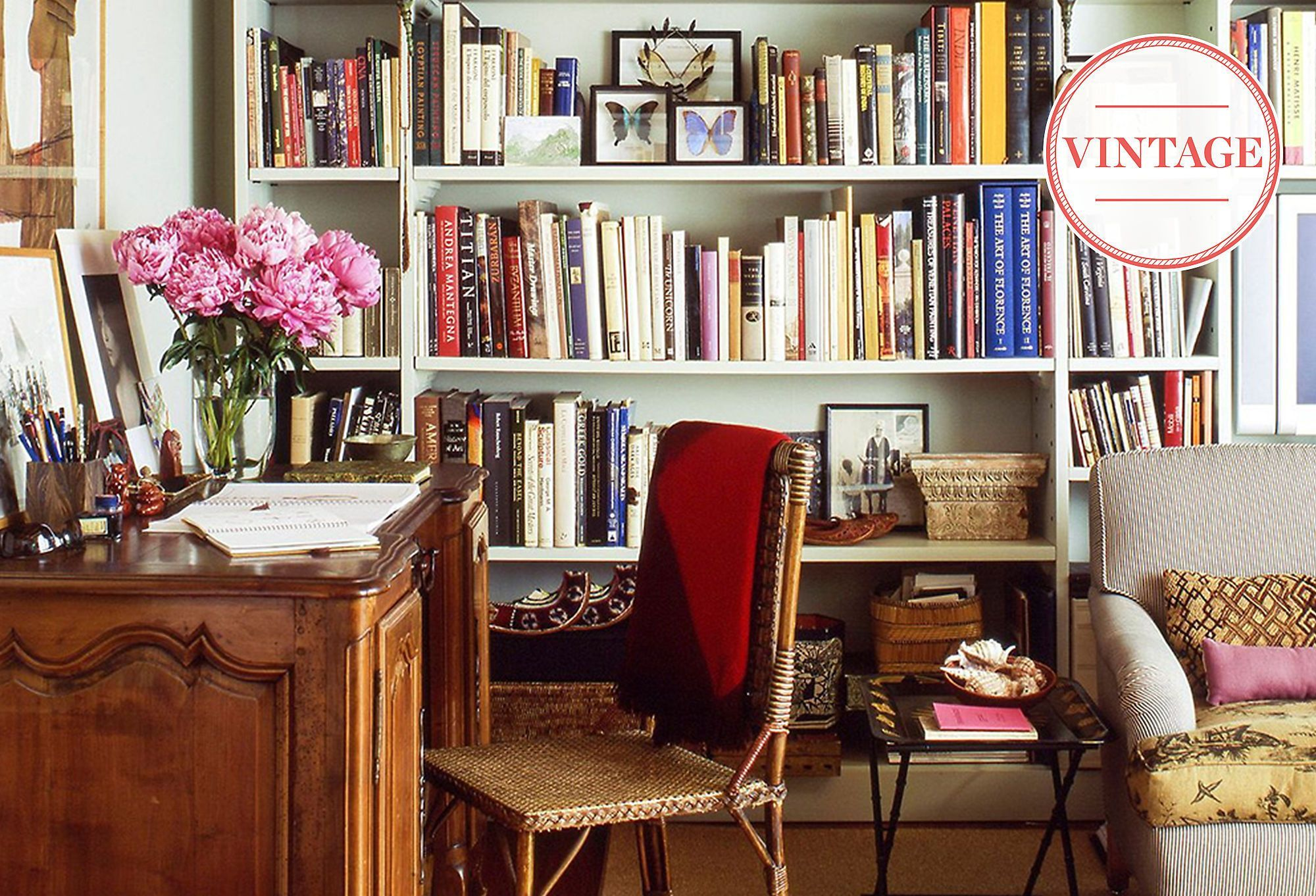 The library look vintage finds for a sophisticated study home