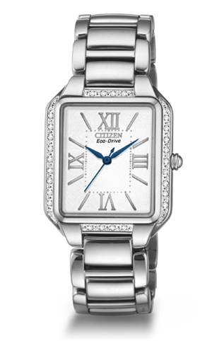 Stainless steel Ciena watch feature a square face 37a7c3fc75