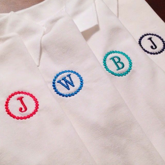 Monogrammed polo shirts for little boys with french dot circle frame