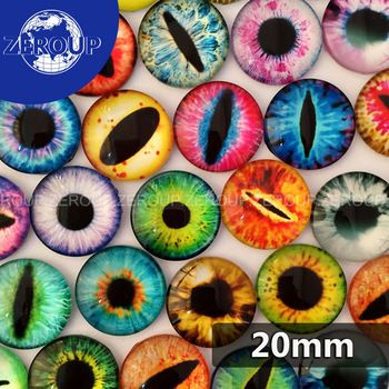 Dragon Eye Pattern Cabochons Photo Glass Cabochons Dome Cameo Jewelry DIY