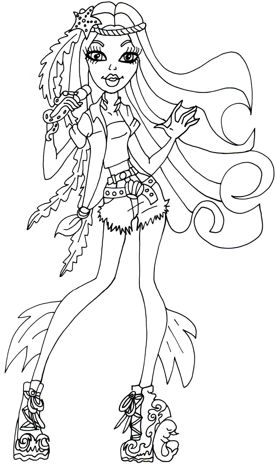 Madison Fear Monster High Coloring Page Boyama Sayfalari
