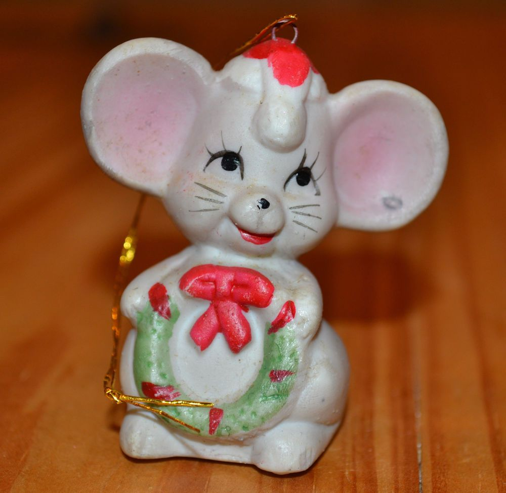 Home interior jesus figurines adorable big eared mouse christmas tree ornament porcelain free ship