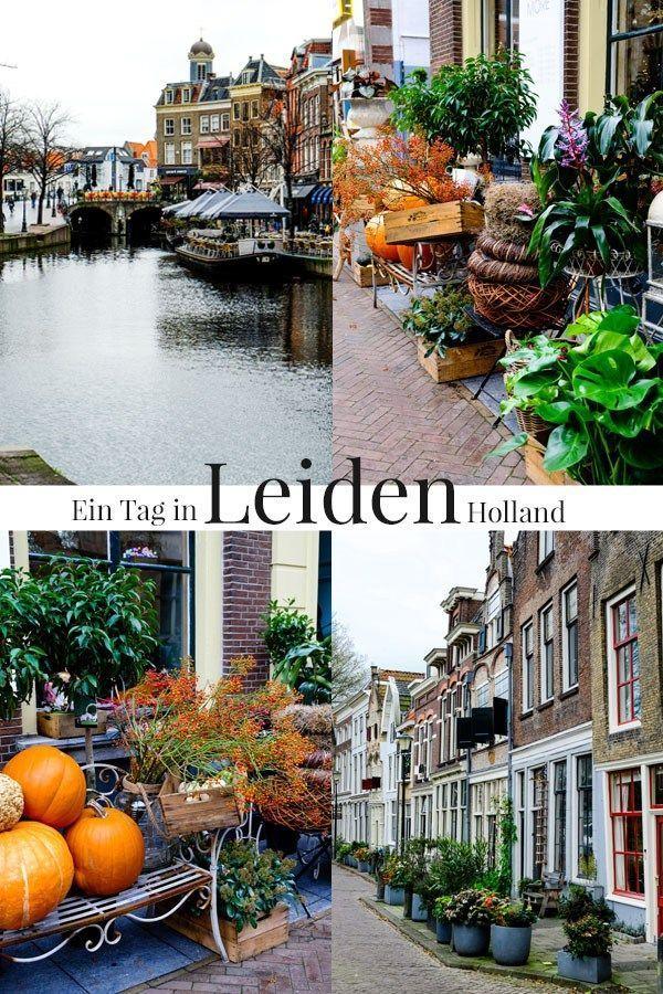 Ein Vormittag im hübschen Städtchen Leiden in Holland.