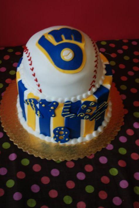 Phenomenal Sports Cakes Brewers Ball Cake Guru Oshkosh Wi 480720 Pixels Funny Birthday Cards Online Hetedamsfinfo