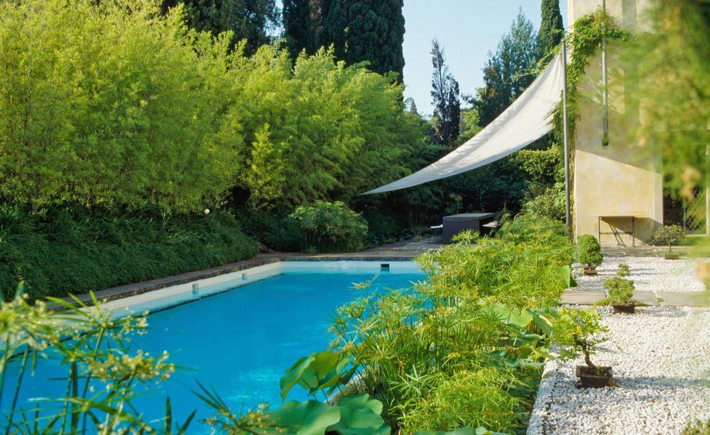 Das Badevergnügen in Ruhe genießen Pool im garten