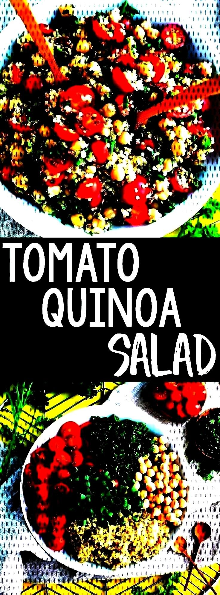 quinoa recipe to our meal prep game! This Tomato Quinoa Salad is fast, flavorfto add another tasty