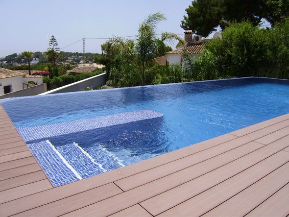 Import waterpoof tilese for pool wpc flooring decking for Cuanto sale instalar una piscina