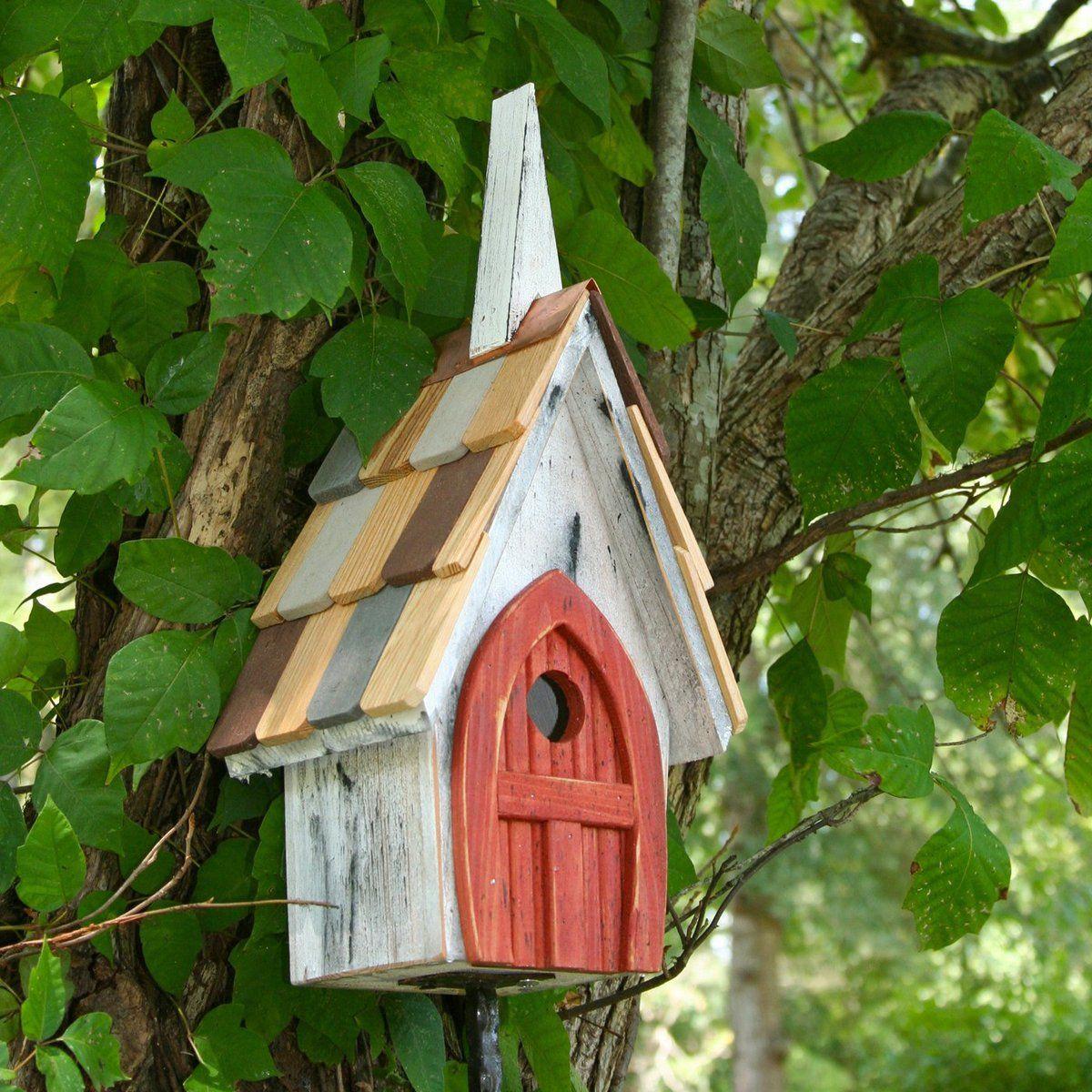 Flock Of Ages Chapel Bird House Yard Envy Bird Houses Decorative Bird Houses Bird House Kits