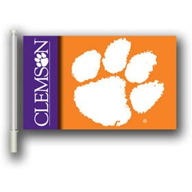 """Nothing says #GoTigers better than this Clemson Tigers 11"""" X 18"""" 2 Sided Car Flag!  Support your #Tigers in the #NIT Quarterfinals!   ClemsonUniversity #Clemson"""