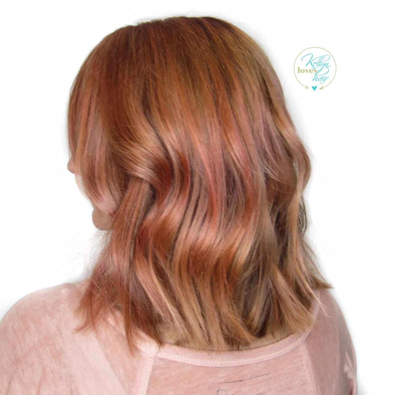 Vivid color - Rose Gold hair color - by Kellyn at Bow & Arrow ...