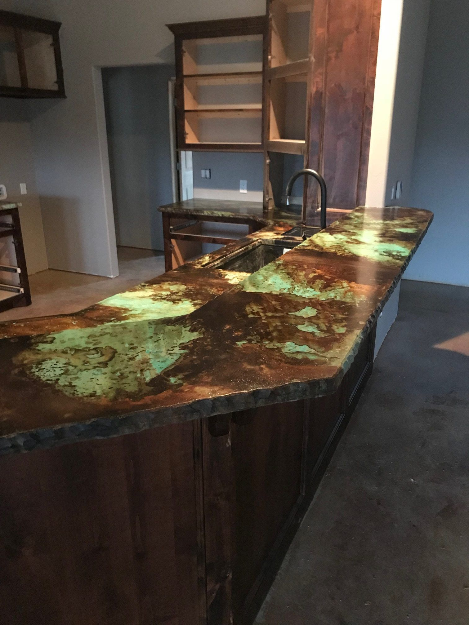 Concrete Design Color Ideas Concrete Kitchen Concrete