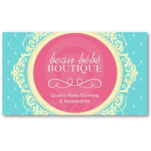 customizable baby boutique business card - Boutique Business Cards