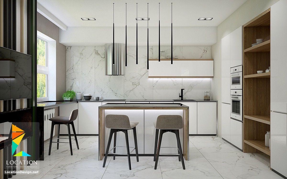 اشكال مطابخ مودرن من احدث كتالوج الوان المطابخ 2019 2020 Kitchen Ceiling Design Kitchen Design Kitchen Remodel